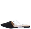 Bella3 Black Ring Single Strap Pointed Toe Mule Flat - Wholesale Fashion Shoes