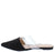 Bella3 Black Ring Single Strap Pointed Toe Mule Flat