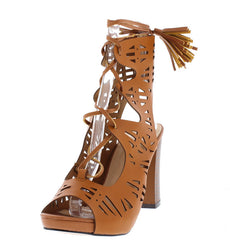 RAELYNN COGNAC WOMEN'S HEEL - Wholesale Fashion Shoes