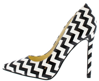 Beronicaby1 Stripe Pointed Toe Heel - Wholesale Fashion Shoes