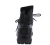 Berserk Black Sparkle Sequin Lace Up Sneaker Boot - Wholesale Fashion Shoes