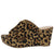 Bianca1 Leopard Cut Out Peep Toe Platform Mule Wedge