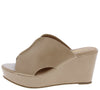 Bianca1 Nude Cut Out Peep Toe Platform Mule Wedge - Wholesale Fashion Shoes