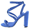 Bixby29x Blue Suede Pu Women's Heel - Wholesale Fashion Shoes