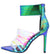 Blazer Mermaid Pointed Open Toe Strappy Lucite Stiletto Heel