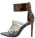 Blazer Tortoise Pointed Open Toe Strappy Lucite Stiletto Heel