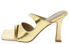 Bossbabe Gold Toe Loop Cut Out Mule Slide Square Heel - Wholesale Fashion Shoes