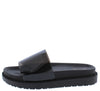 Bossy08 Black Lucite Open Toe Chunky Flat Sandal - Wholesale Fashion Shoes