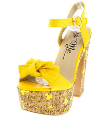 BOTERYS YELLOW WOMEN'S HEEL - Wholesale Fashion Shoes