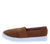 Bounce01s Mocha Stretch Round Toe Slide On Sneaker Flat