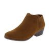 Bradee07 Tan Almond Toe Stacked Heel Ankle Boot - Wholesale Fashion Shoes