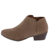 Bradee07 Taupe Almond Toe Stacked Heel Ankle Boot - Wholesale Fashion Shoes