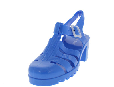 Brash Blue Jelly Caged Flat - Wholesale Fashion Shoes
