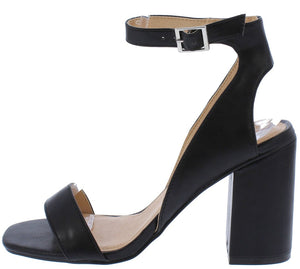 04183471f7b97 Naomi160 Black Open Toe Cut Out Ankle Strap Chunky Heel - Wholesale Fashion  Shoes