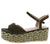 Brielle1 Olive Open Toe Slingback Ankle Strap Espadrille Wedge