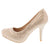 Bright8 Champagne Sparkle Almond Toe Stiletto Heel