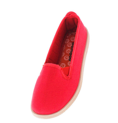 Britny01k Red Slip on Kids Flat - Wholesale Fashion Shoes