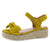 Broadwalk13 Mustard Bow Knotted Open Toe Espadrille Wedge