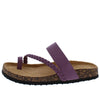 Broadwalk3 Purple Braided Cross Strap Toe Ring Slide Sandal - Wholesale Fashion Shoes
