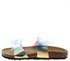 Broadwalk9 Hologram Dual Bow Mule Slide Flat Sandal - Wholesale Fashion Shoes