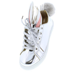 ALICE244 SILVER WOMAN'S FLAT - Wholesale Fashion Shoes