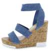 Burano Blue Women's Wedge - Wholesale Fashion Shoes