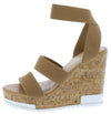 Burano Taupe Women's Wedge - Wholesale Fashion Shoes