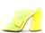 Gage36 Neon Yellow Cut Out Peep Tie Mule Angled Heel