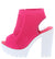 Camila01 Fuchsia Perforated Knit Cut Out Ankle Boot