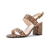 Capsule36 Tan Black Leopard Suede Women's Sandal - Wholesale Fashion Shoes