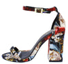 Carissa01x Black Multi Fabric Women's Heel - Wholesale Fashion Shoes