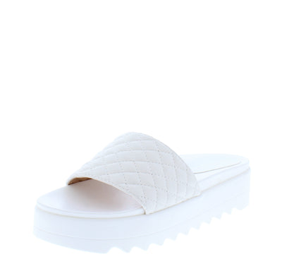 Caro04 White Women's Sandal - Wholesale Fashion Shoes