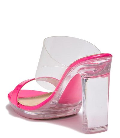 Charlee1 Neon Pink Patent Women's Heel - Wholesale Fashion Shoes
