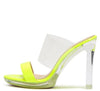 Charlee1 Neon Yellow Patent Women's Heel - Wholesale Fashion Shoes