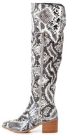 Charlotte1 Black Snake Over The knee Boot - Wholesale Fashion Shoes