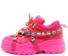 Chunk Fever Neon Pink Women's Boot - Wholesale Fashion Shoes
