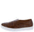 Coco1 Tan Crocodile Round Toe Slide On Sneaker Loafer Flat