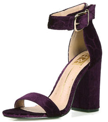 CONSTANCE01 PURPLE VELVET WOMEN'S HEEL - Wholesale Fashion Shoes