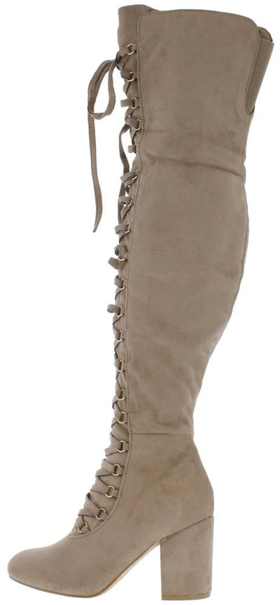 Cache04ok Taupe Women's Boot - Wholesale Fashion Shoes