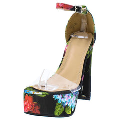 PEGGY209 FLORAL WOMEN'S HEEL - Wholesale Fashion Shoes