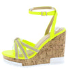 Cai Yellow Espadrille Strappy Open Toe Platform Wedge - Wholesale Fashion Shoes