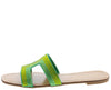 Cake Green Rhinestone Cut Out Open Toe Mule Slide Sandal - Wholesale Fashion Shoes