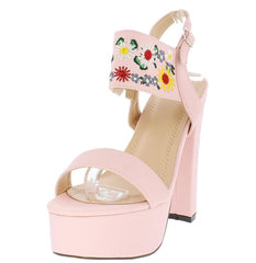 TRENA298 LIGHT PINK NUBUCK WOMEN'S HEEL - Wholesale Fashion Shoes