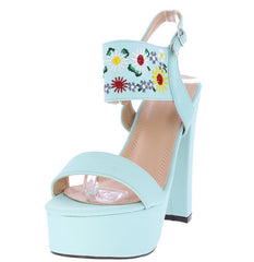 TRENA298 MINT NUBUCK WOMEN'S HEEL - Wholesale Fashion Shoes
