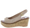 Calvino Taupe Women's Wedge - Wholesale Fashion Shoes