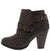 Camila64 Brown Distressed Multi Buckle Strap Stacked Ankle Boot