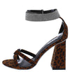 Cancun02 Leopard Suede Open Toe Sparkle Ankle Strap Angled Heel - Wholesale Fashion Shoes