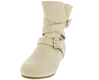 Candies133 Pearl Strappy Buckle Ankle Boot - Wholesale Fashion Shoes