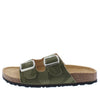 Cardi2 Camo Open Toe Dual Buckle Strap Slide Sandal - Wholesale Fashion Shoes