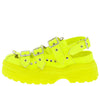 Cardi Lime Multi Buckle Strap Slingback Chunky Lug Flat - Wholesale Fashion Shoes